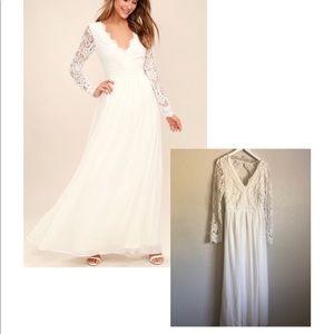 White Lulu's Maxi Dress